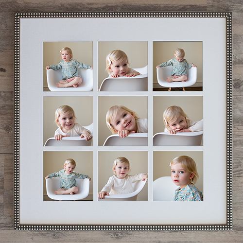 Picture frame with studio images of a little girl