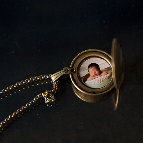 Locket with baby image inside